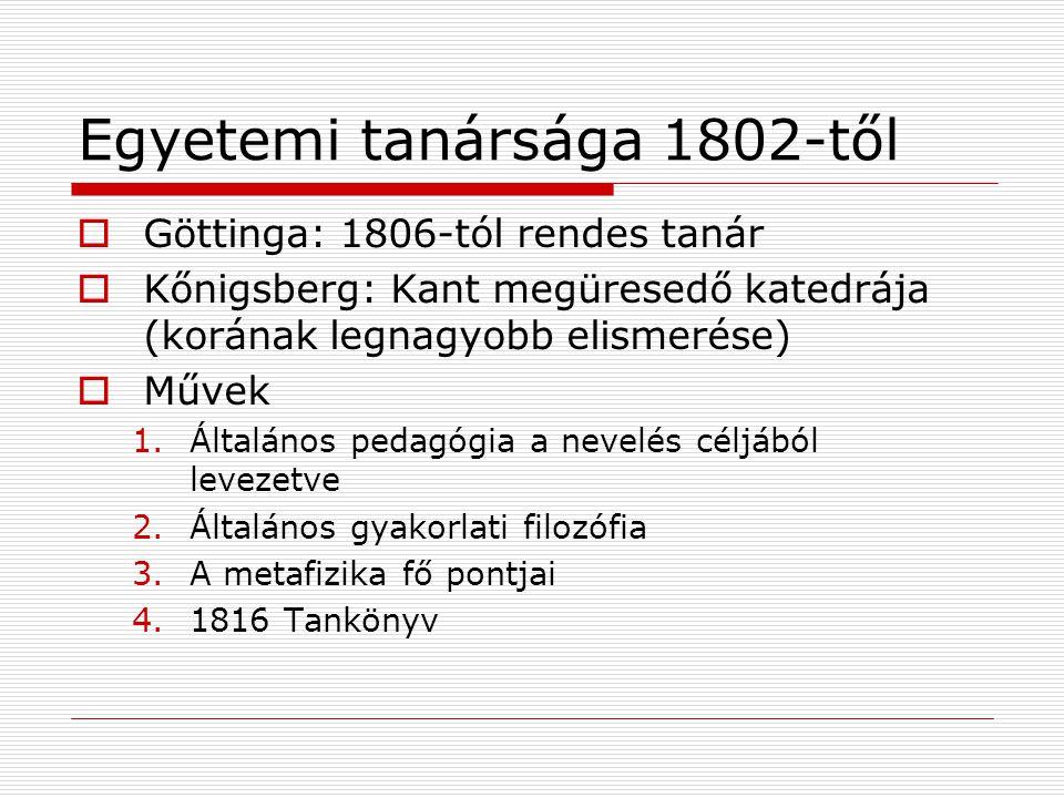 Egyetemi tanársága 1802-től