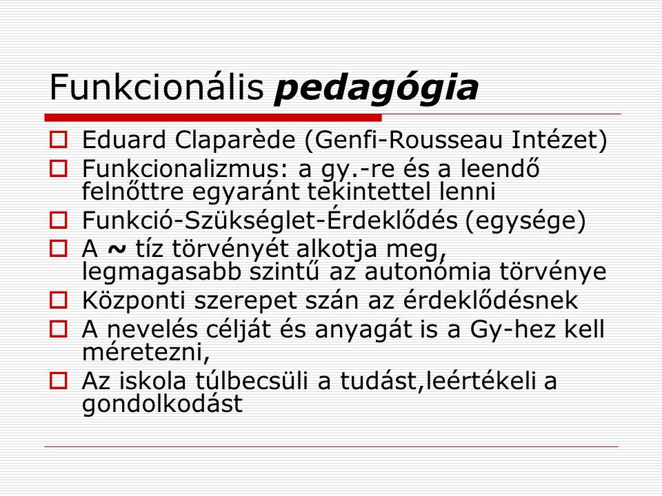 Funkcionális pedagógia