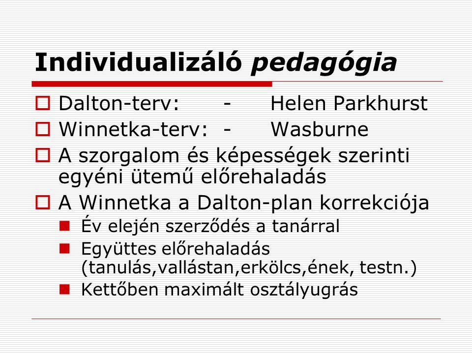 Individualizáló pedagógia