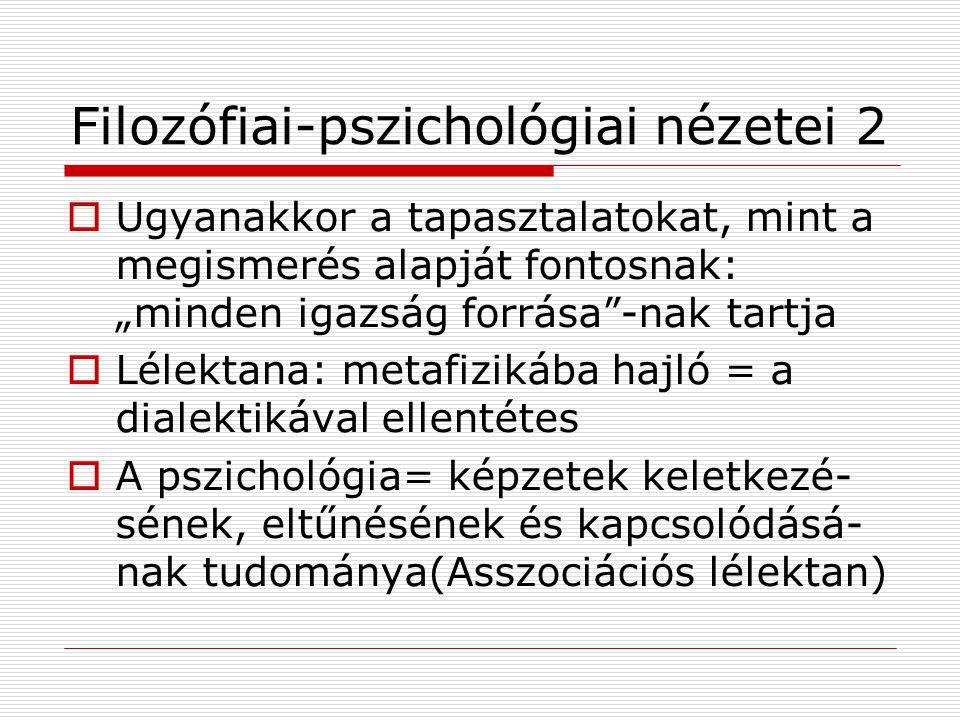 Filozófiai-pszichológiai nézetei 2