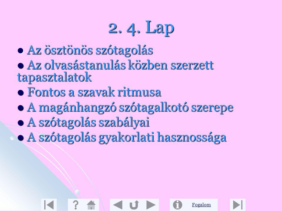 2. 4. Lap Az ösztönös szótagolás