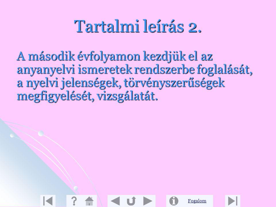 Tartalmi leírás 2.