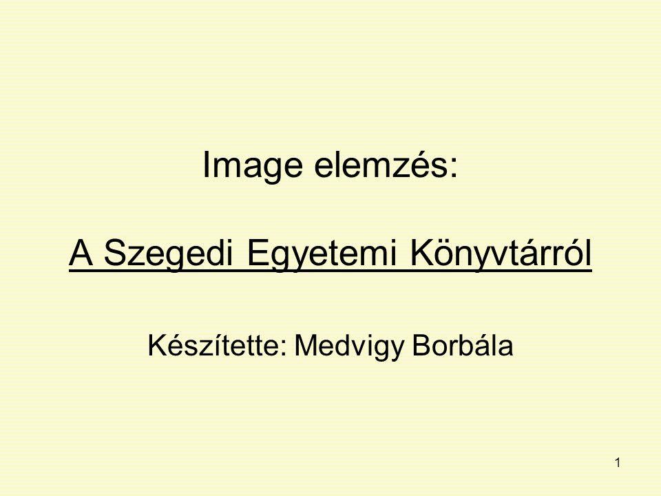 Image elemzés: A Szegedi Egyetemi Könyvtárról