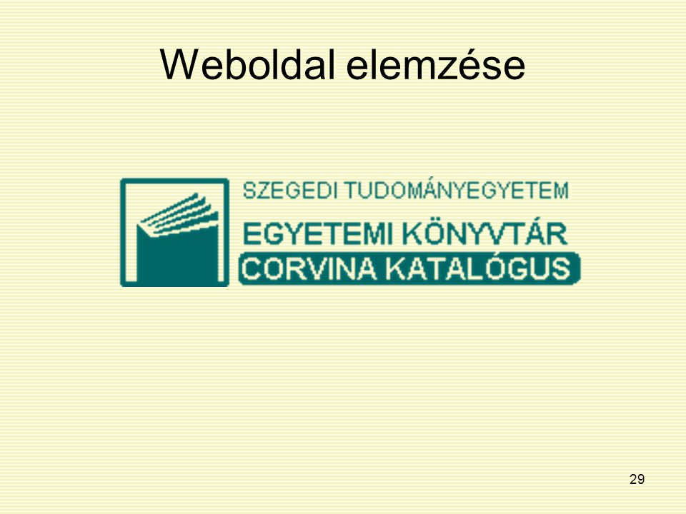 Weboldal elemzése