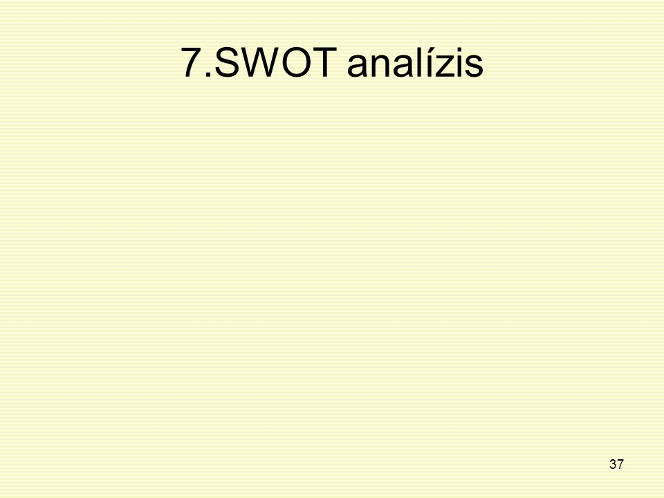 7.SWOT analízis