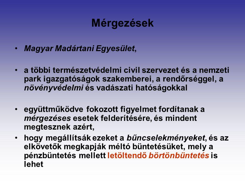 Mérgezések Magyar Madártani Egyesület,