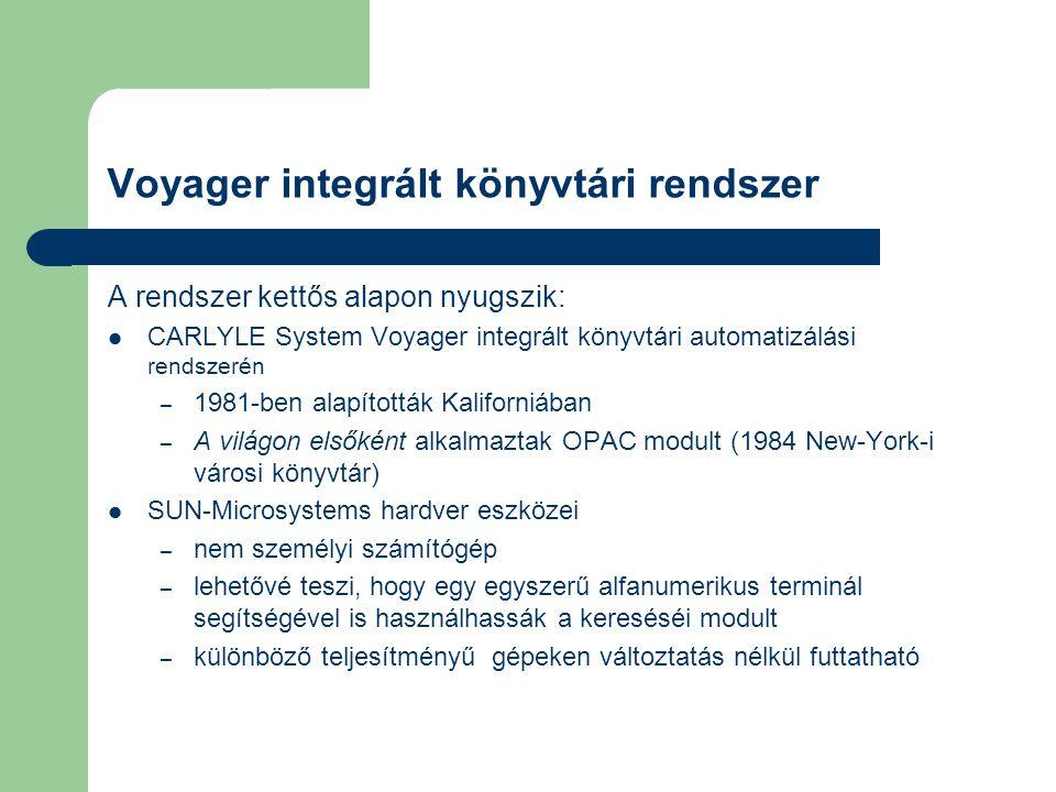 Voyager integrált könyvtári rendszer