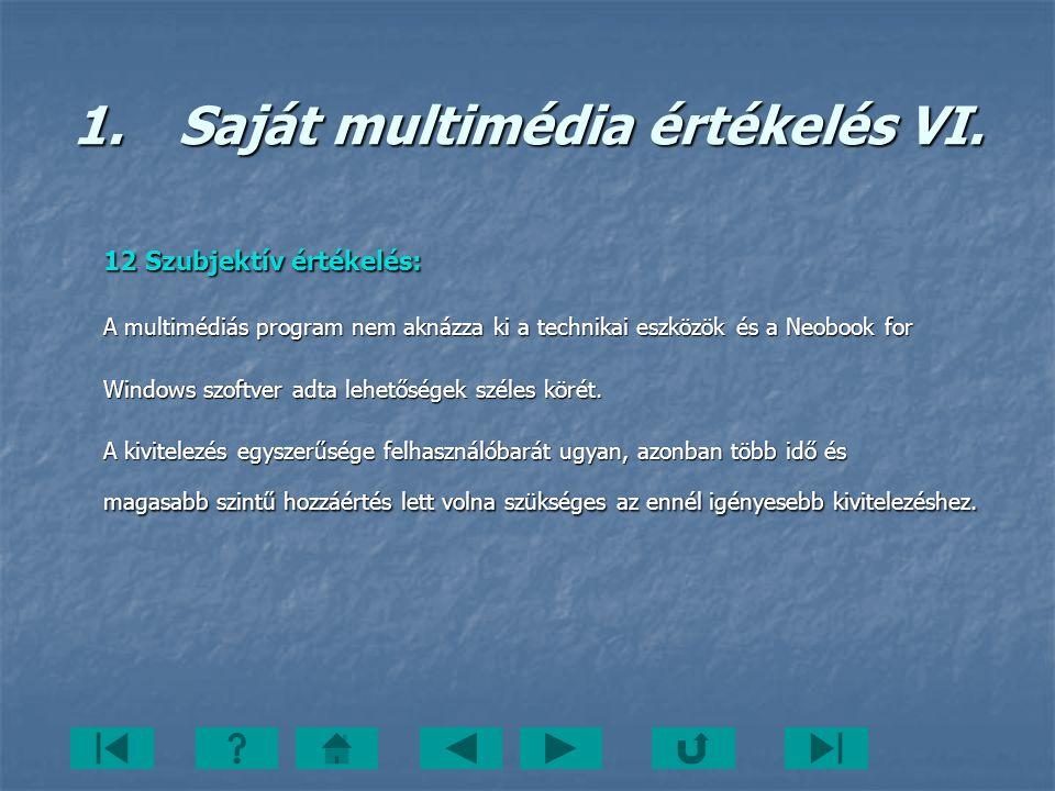 1. Saját multimédia értékelés VI.