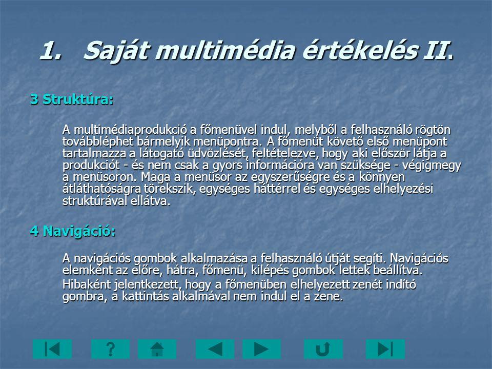 Saját multimédia értékelés II.