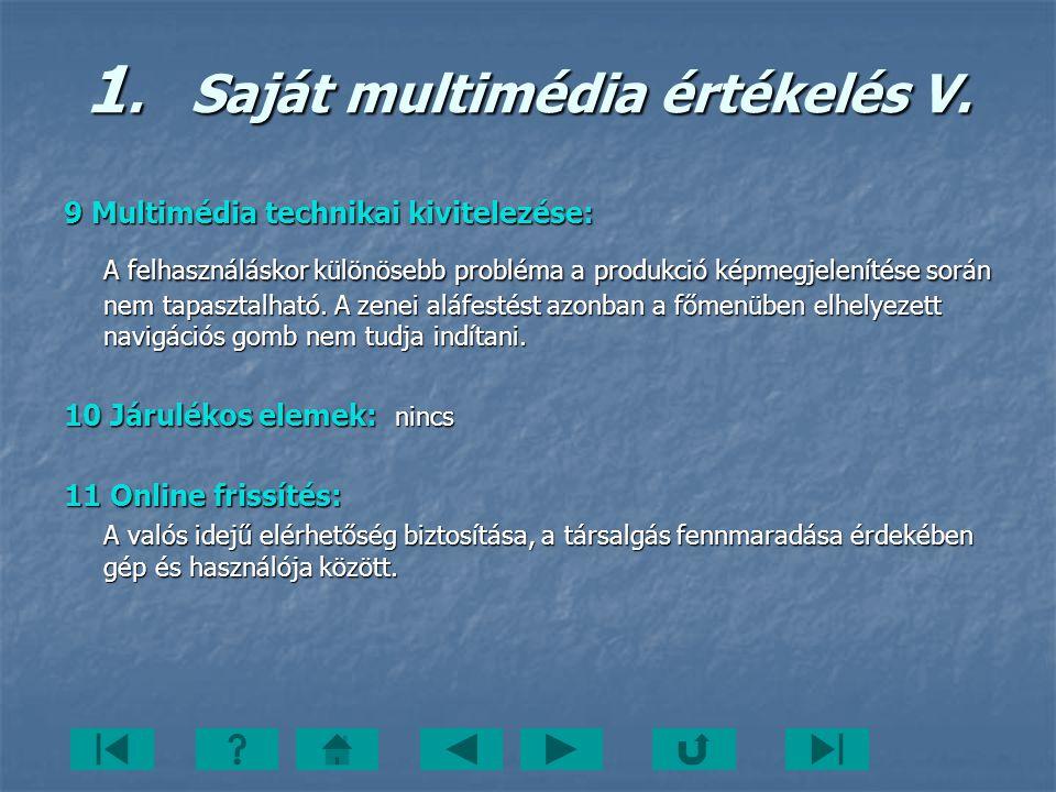 1. Saját multimédia értékelés V.