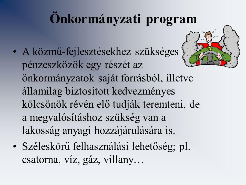 Önkormányzati program