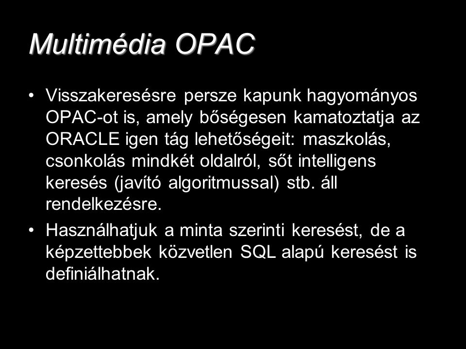 Multimédia OPAC