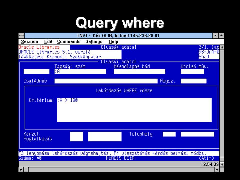 Query where