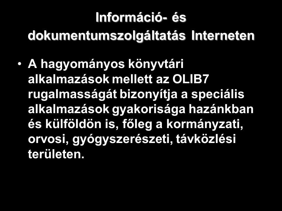 Információ- és dokumentumszolgáltatás Interneten