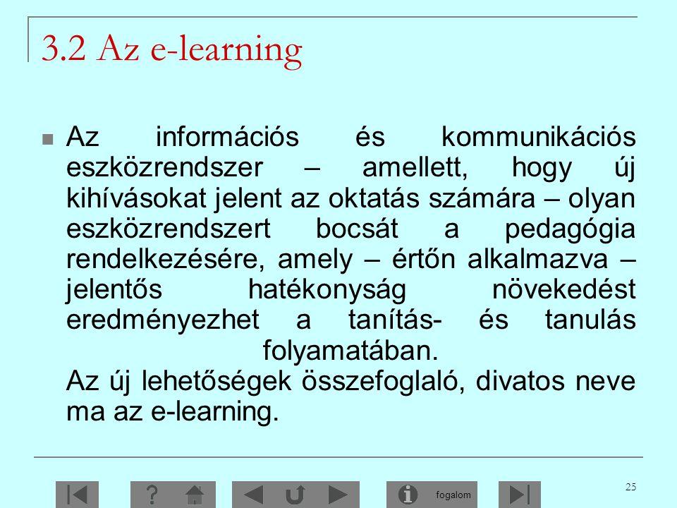 3.2 Az e-learning