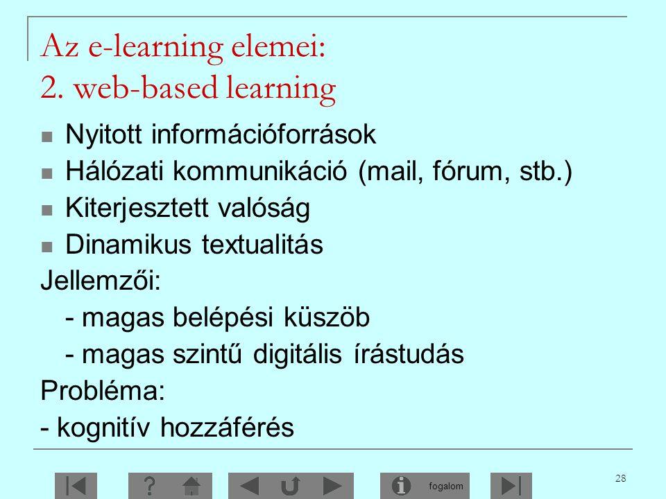 Az e-learning elemei: 2. web-based learning
