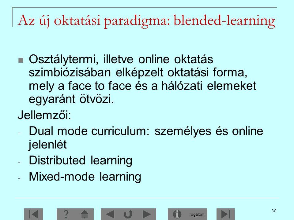 Az új oktatási paradigma: blended-learning