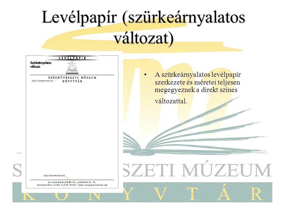 Levélpapír (szürkeárnyalatos változat)
