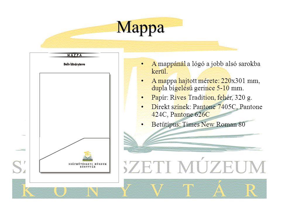 Mappa A mappánál a lógó a jobb alsó sarokba kerül.
