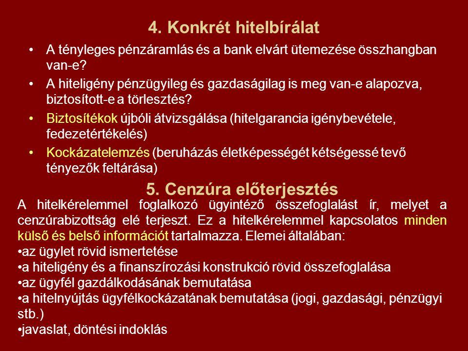 5. Cenzúra előterjesztés