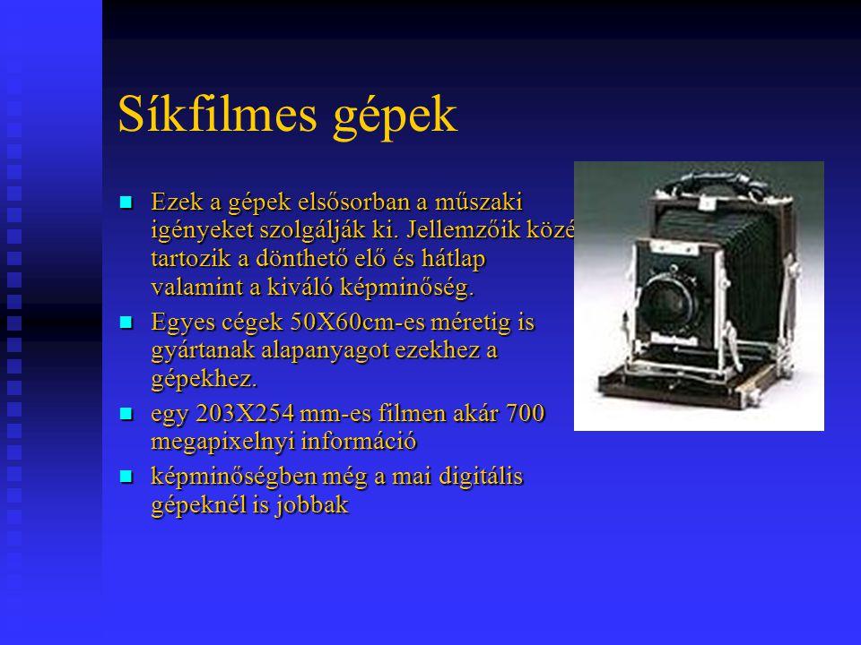 Síkfilmes gépek