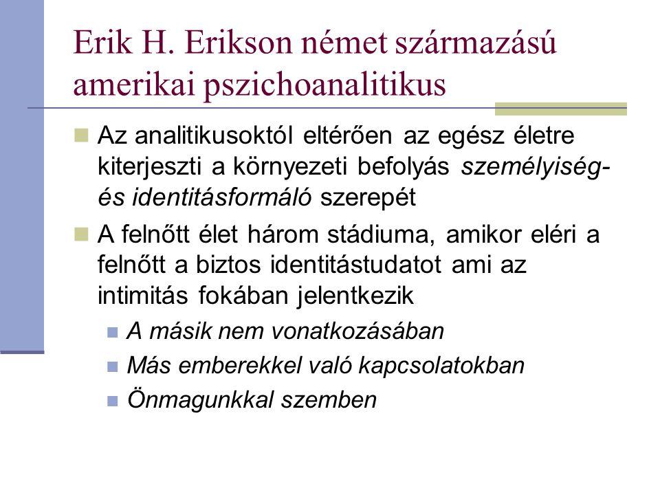 Erik H. Erikson német származású amerikai pszichoanalitikus