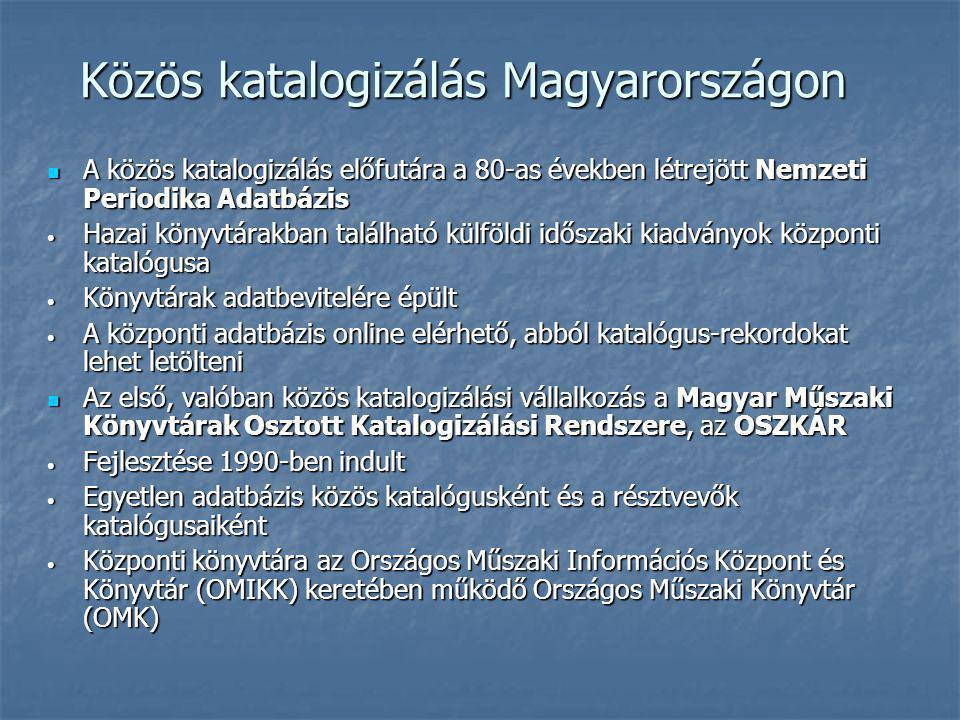 Közös katalogizálás Magyarországon