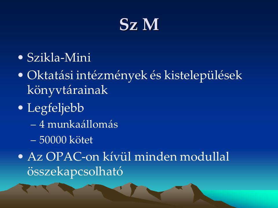 Sz M Szikla-Mini Oktatási intézmények és kistelepülések könyvtárainak