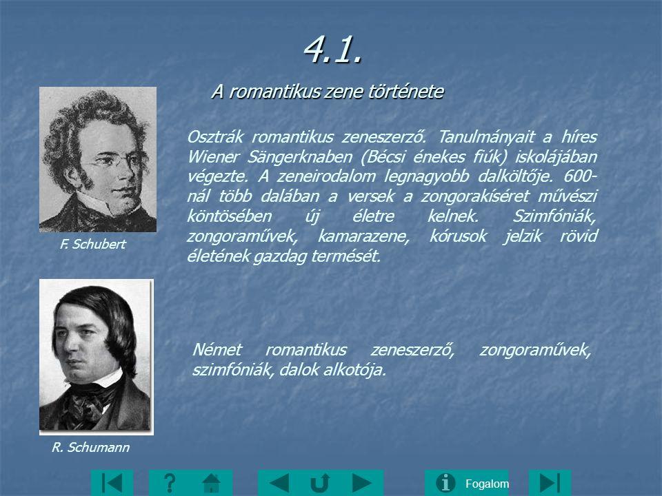 4.1. A romantikus zene története
