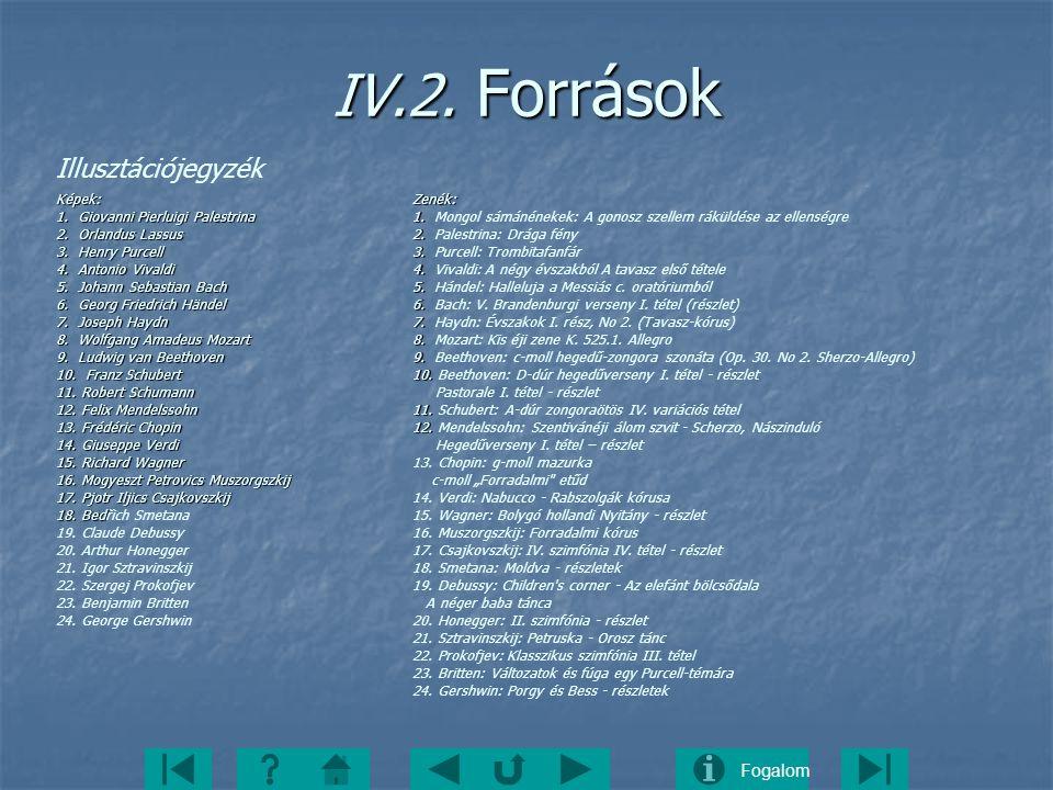IV.2. Források Illusztációjegyzék Képek: