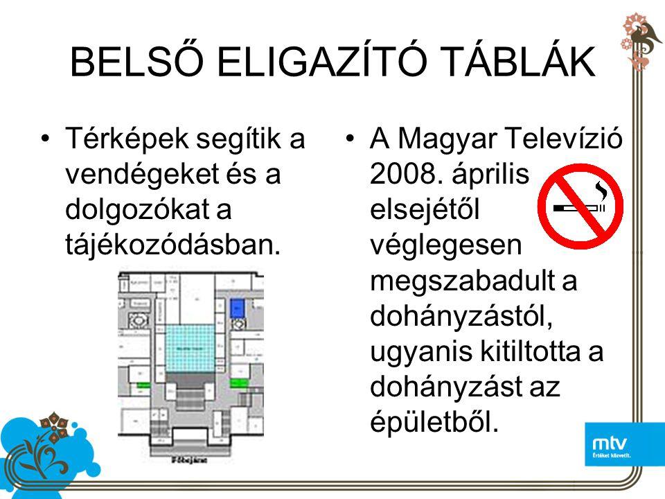 BELSŐ ELIGAZÍTÓ TÁBLÁK