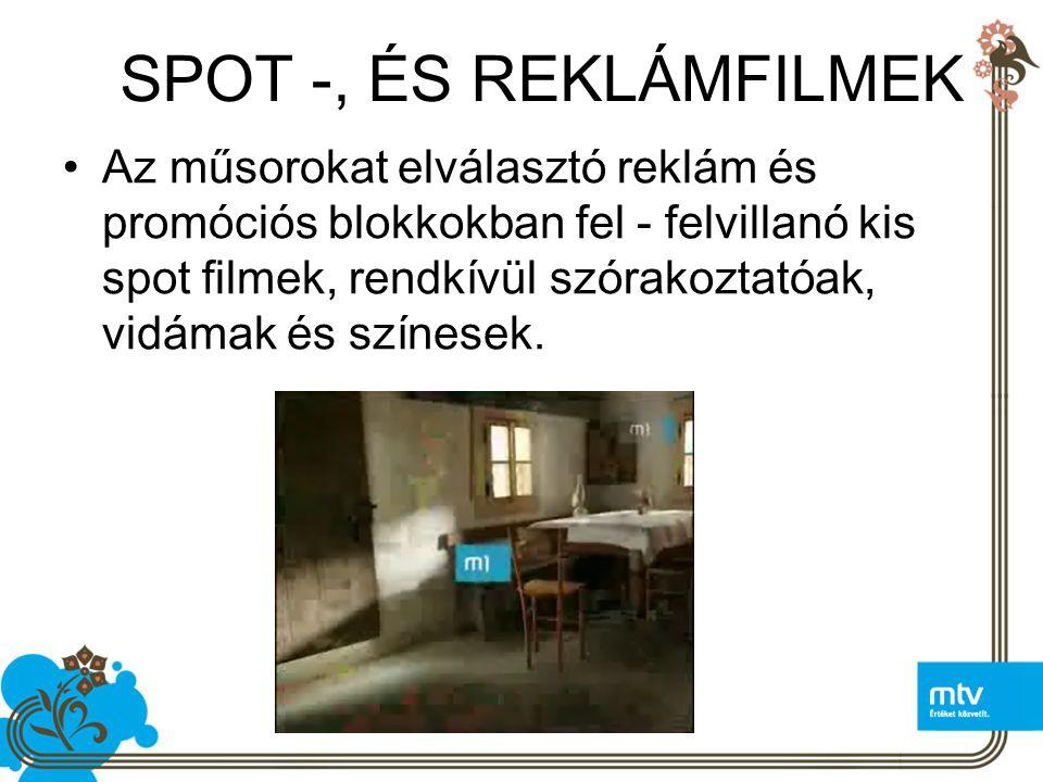 SPOT -, ÉS REKLÁMFILMEK