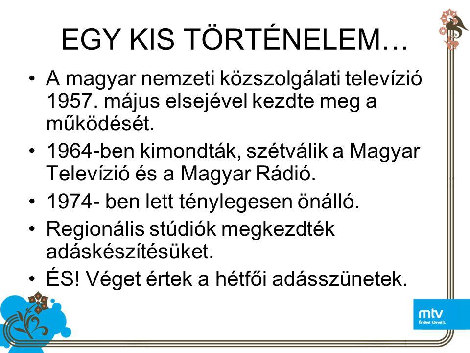 EGY KIS TÖRTÉNELEM… A magyar nemzeti közszolgálati televízió 1957. május elsejével kezdte meg a működését.