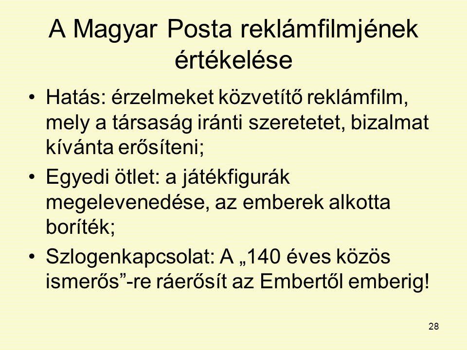 A Magyar Posta reklámfilmjének értékelése