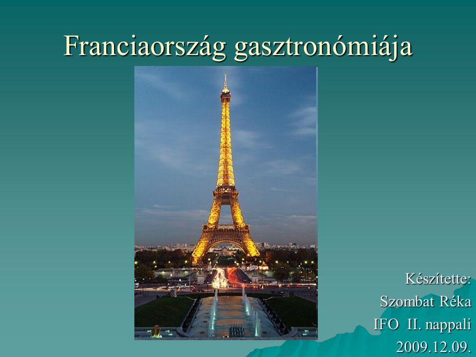 Franciaország gasztronómiája