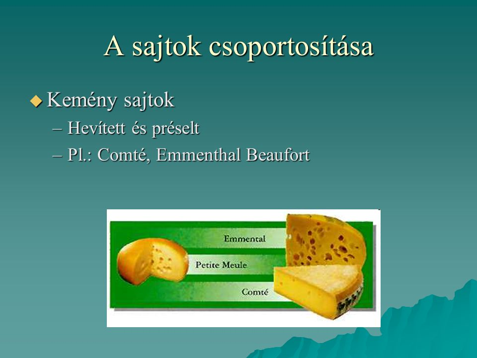 A sajtok csoportosítása