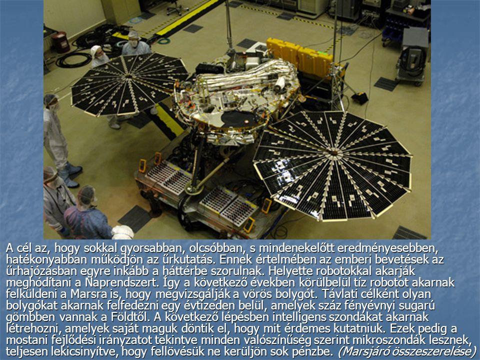 A cél az, hogy sokkal gyorsabban, olcsóbban, s mindenekelőtt eredményesebben, hatékonyabban működjön az űrkutatás.