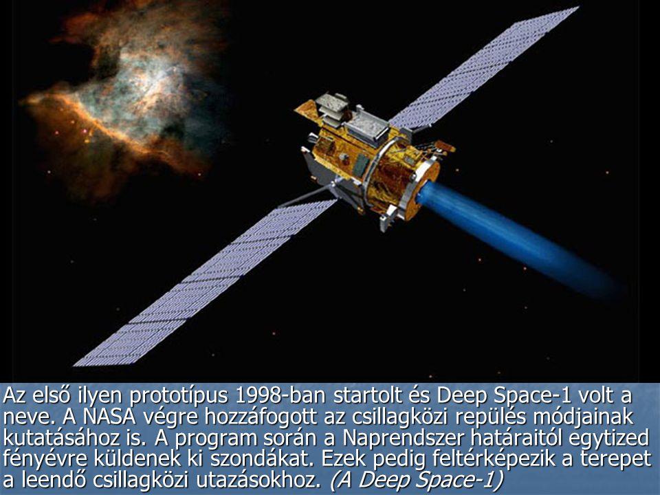 Az első ilyen prototípus 1998-ban startolt és Deep Space-1 volt a neve