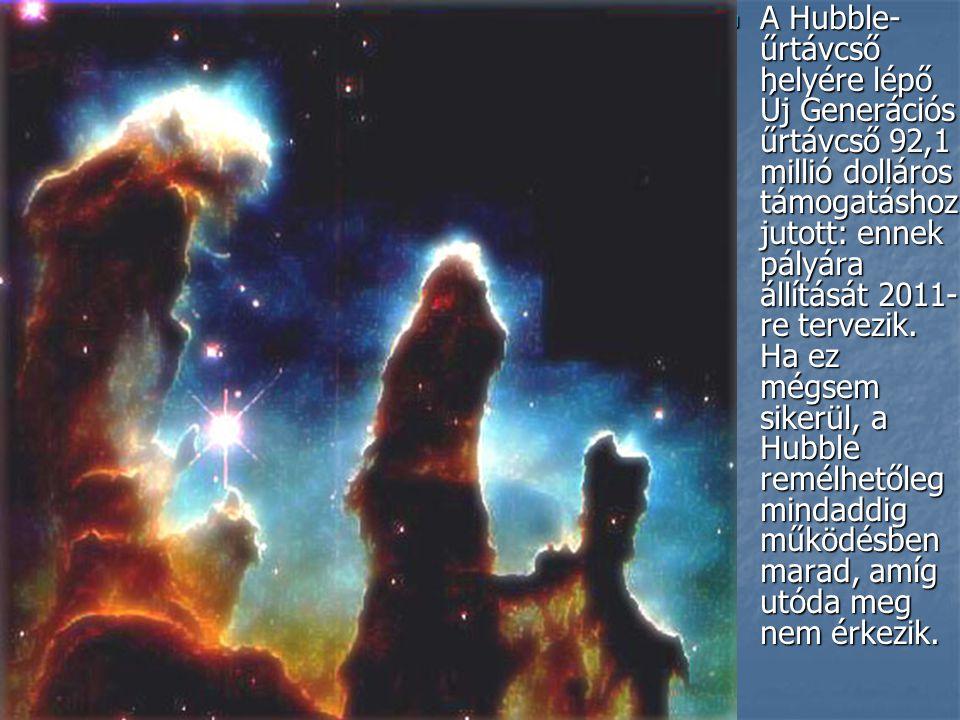A Hubble-űrtávcső helyére lépő Új Generációs űrtávcső 92,1 millió dolláros támogatáshoz jutott: ennek pályára állítását 2011-re tervezik.
