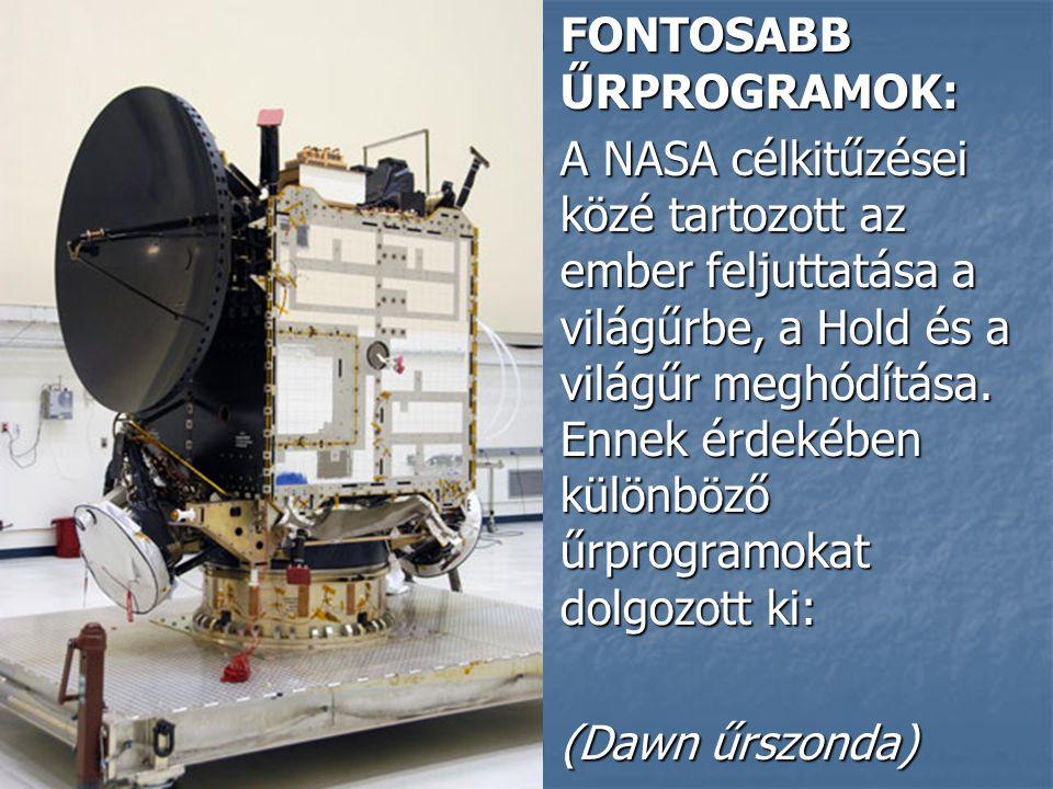 FONTOSABB ŰRPROGRAMOK: