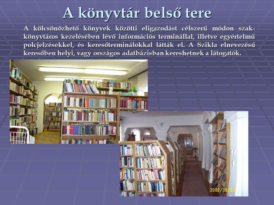 A könyvtár belső tere