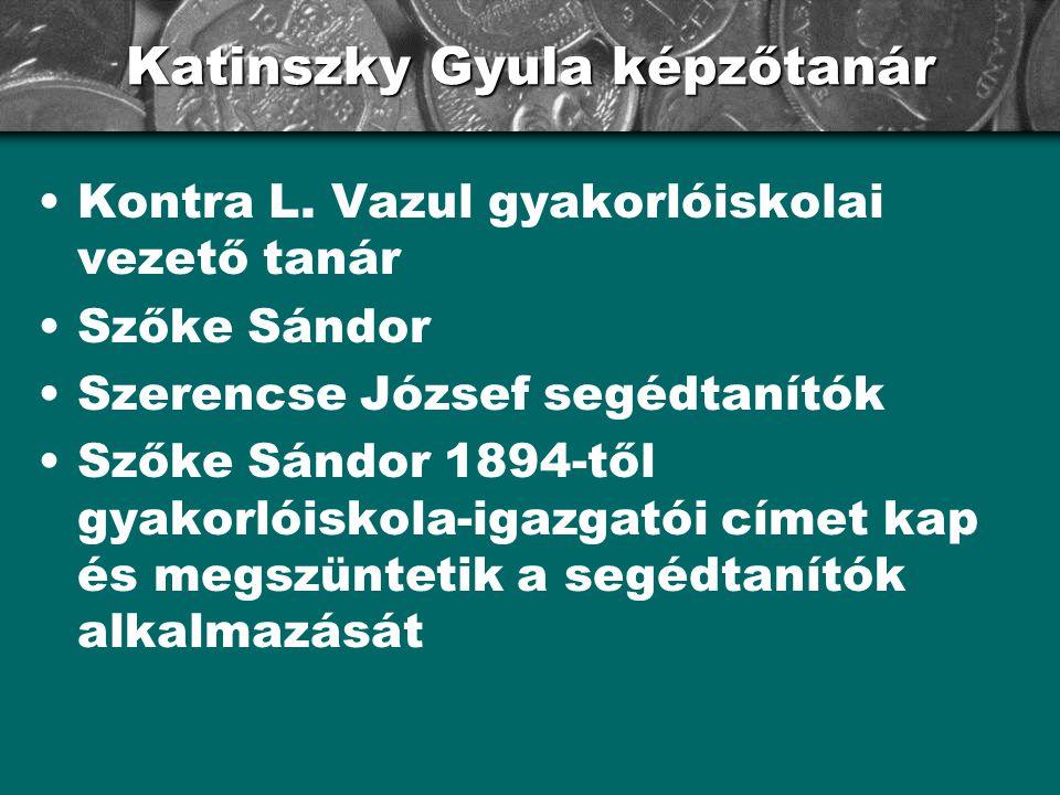 Katinszky Gyula képzőtanár
