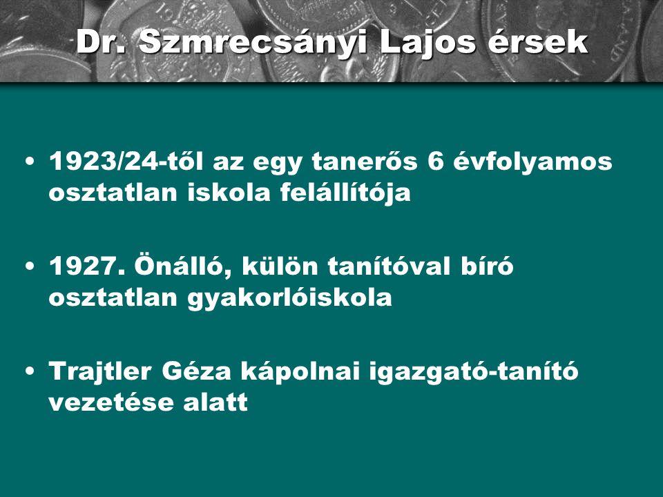 Dr. Szmrecsányi Lajos érsek