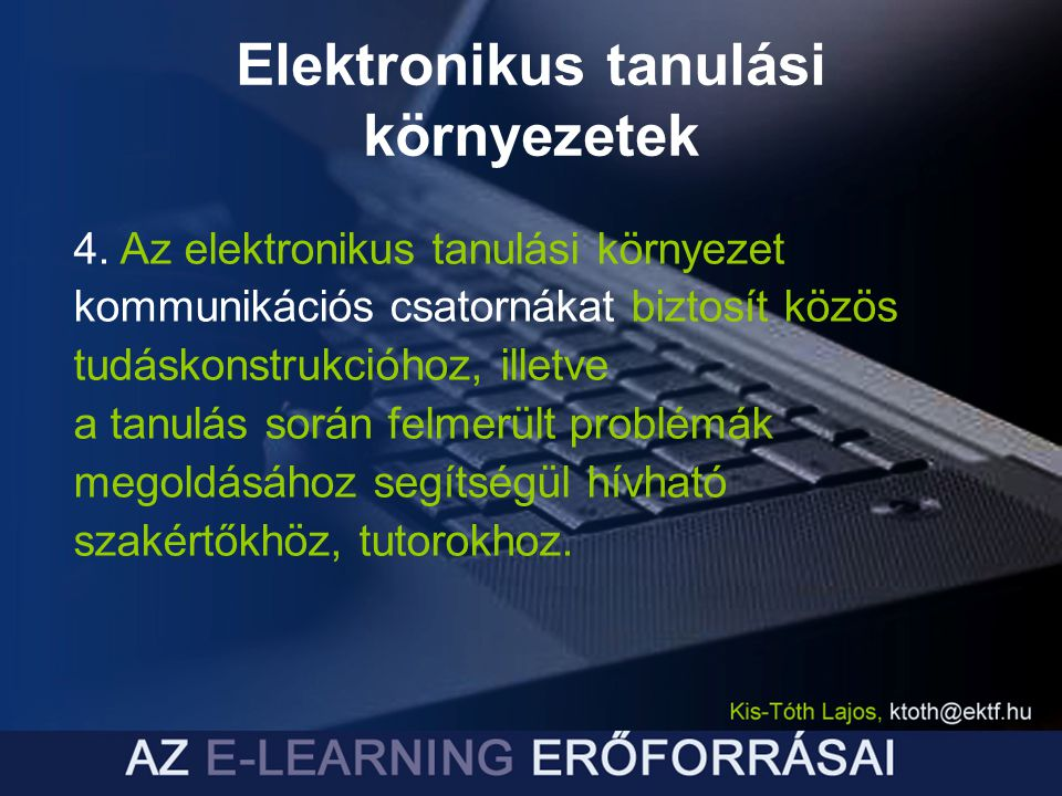 Elektronikus tanulási