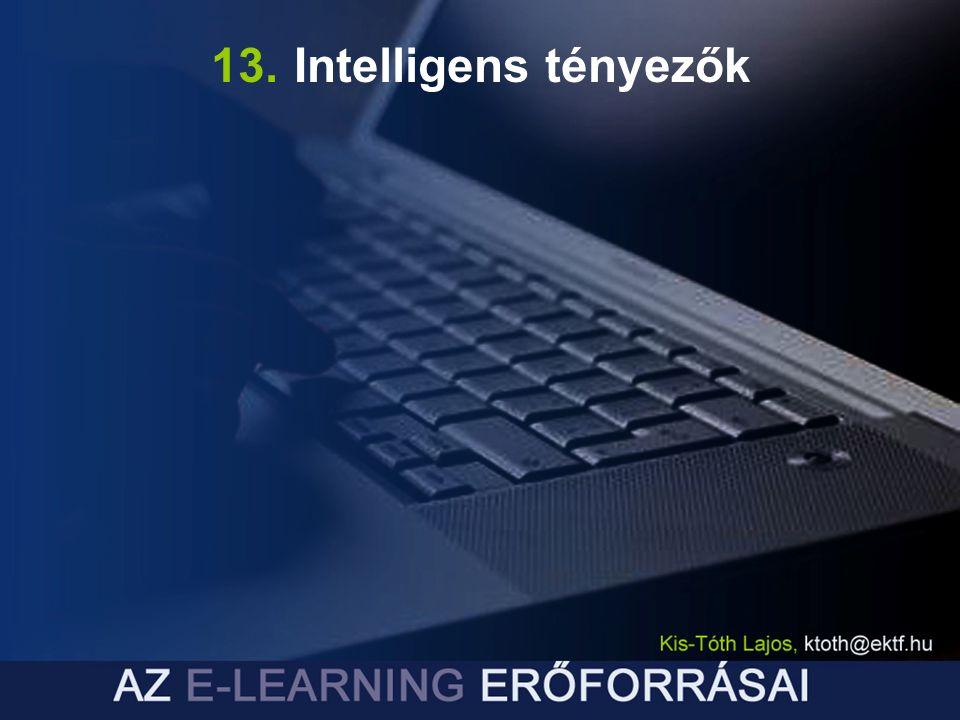 13. Intelligens tényezők