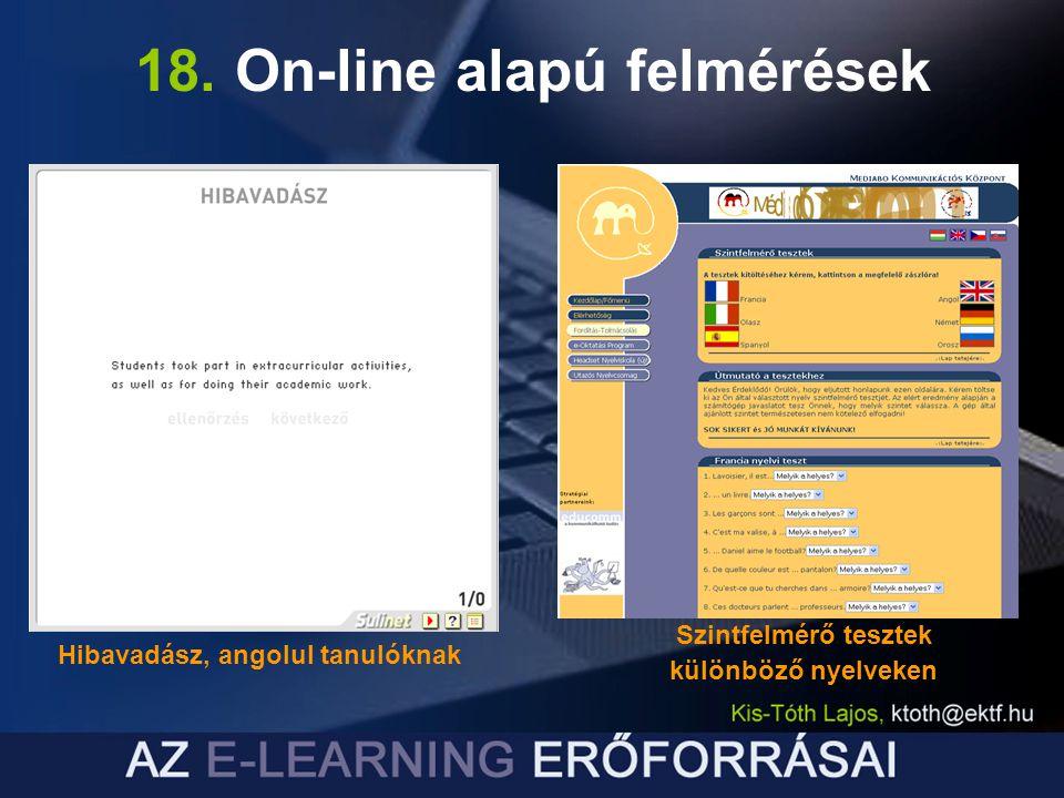 18. On-line alapú felmérések