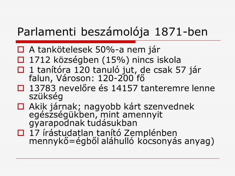 Parlamenti beszámolója 1871-ben