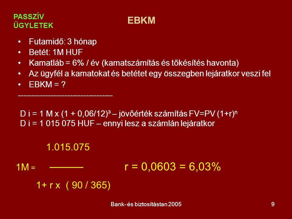 Bank- és biztosítástan 2005