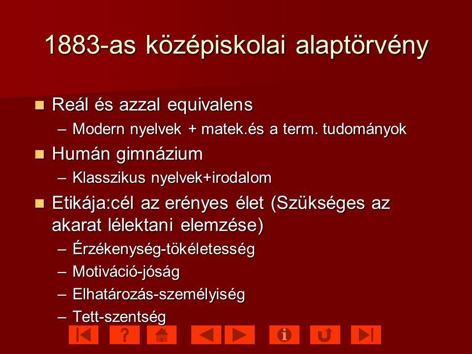 1883-as középiskolai alaptörvény
