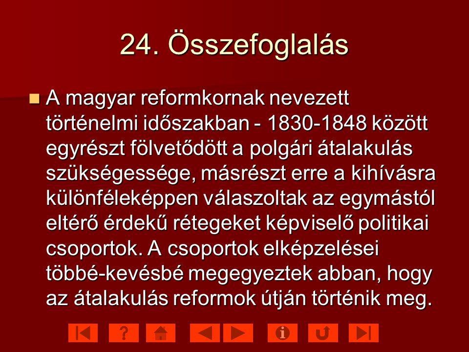 24. Összefoglalás